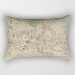 Vintage Map of Annapolis MD (1878) Rectangular Pillow