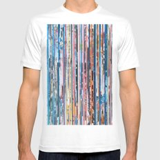 STRIPES 28 White Mens Fitted Tee MEDIUM