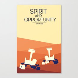 spirit and opportunity space rovers Canvas Print