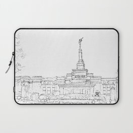 Reno Nevada LDS Temple Sketch Laptop Sleeve