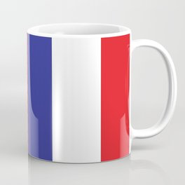French Flag Blue White Red Francophile France Print Coffee Mug