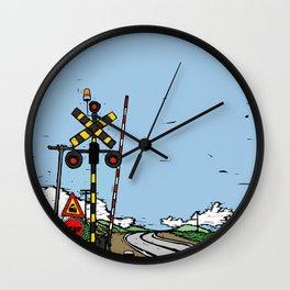 Train way Wall Clock