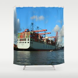 Cosco Cotainer Ship Shower Curtain
