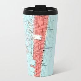 Vintage Seaside Heights NJ Map (1953) Travel Mug