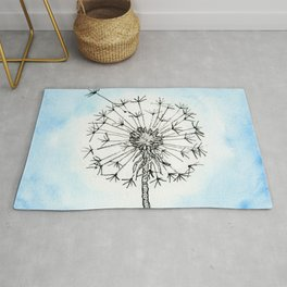 Dandelion Waiting for a Breeze Rug