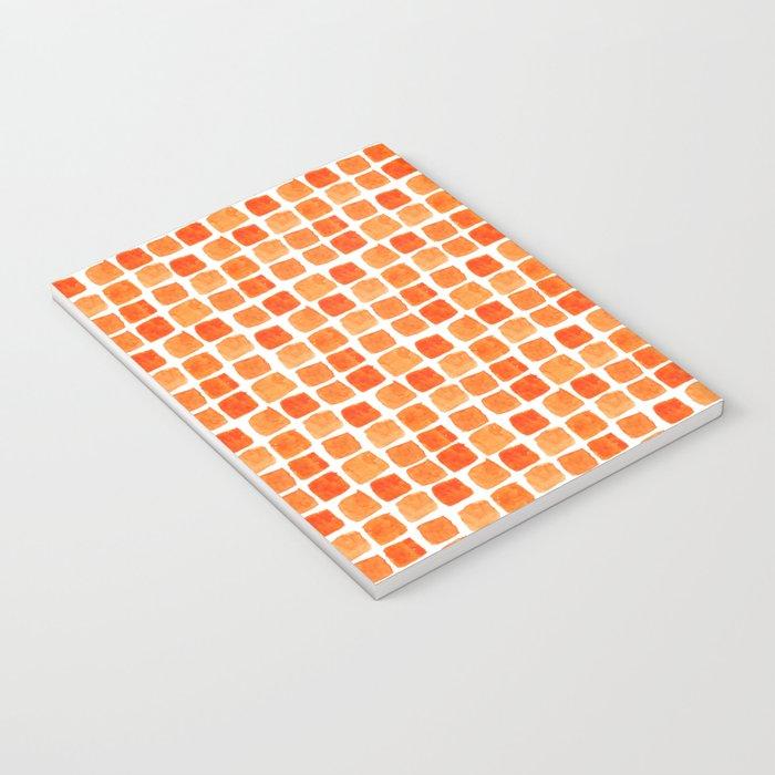 Orange Squares Pattern. Notebook