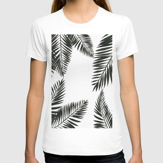 Black Watercolor Tropical Leaves by lavieclaire