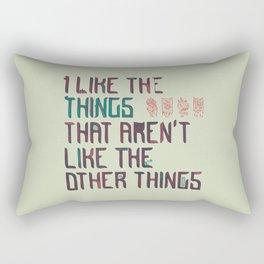 The Things I Like Rectangular Pillow