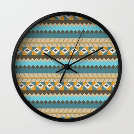 navajo pattern 3 Wall Clock