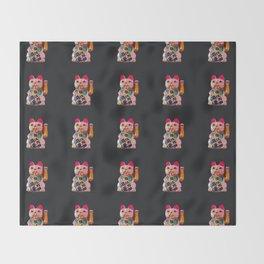 Maneki Neko Throw Blanket
