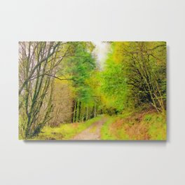 Scottish forest watercolor painting #10 Metal Print