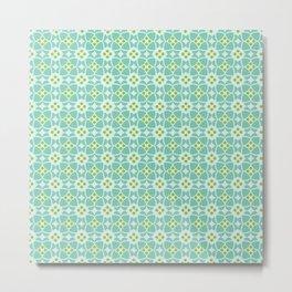 Mediterranean sky blue tiles Metal Print