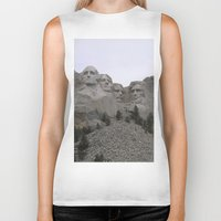 rushmore Biker Tanks featuring Mount Rushmore National Park by Joanne Salazar