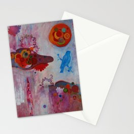Blue Bird of the Fifth Millenium Stationery Cards
