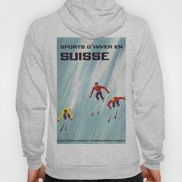 Suisse Vintage Ski Poster Hoody