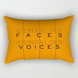 Remember - Orange is the New Black Rectangular Pillow