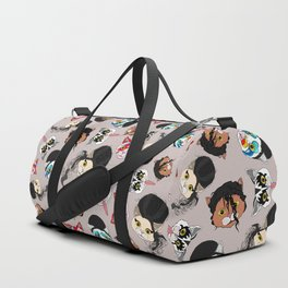 Pop Cats - Pattern on White Duffle Bag