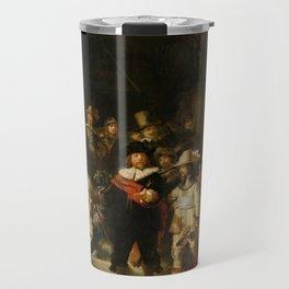 Rembrandt van Rijn - Nightwatch - Nachtwacht (1642) Travel Mug