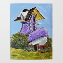 old woman's shoe house Poster