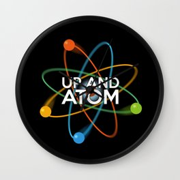 UP AND ATOM Wall Clock