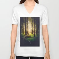 outdoor V-neck T-shirts featuring Come to me by HappyMelvin