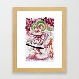 Evil Synth Framed Art Print