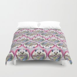 Hedgehog Heart Pattern Duvet Cover