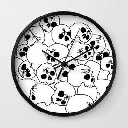 Zombies Skulls Wall Clock