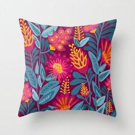 Fiesta Garden Throw Pillow