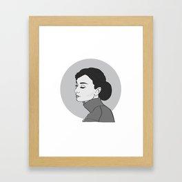 Miss Hepburn Framed Art Print