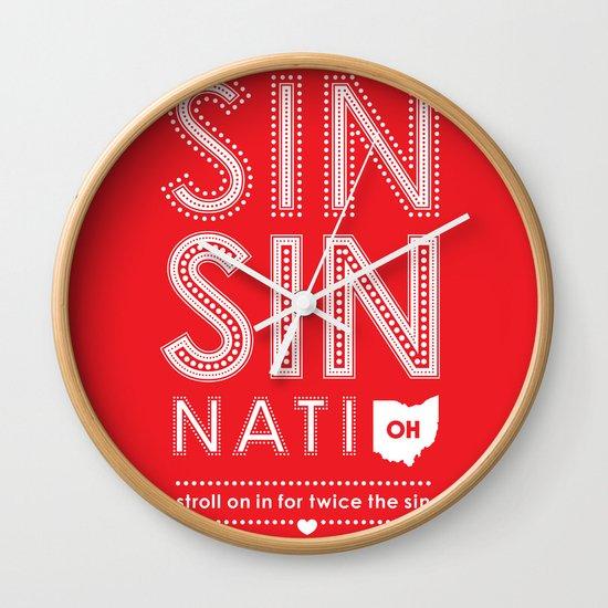 Locals Only — Sinsinnati, OH Wall Clock