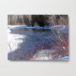 Cold River Running Metal Print