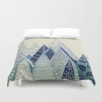 snow Duvet Covers featuring Snow Top by rskinner1122