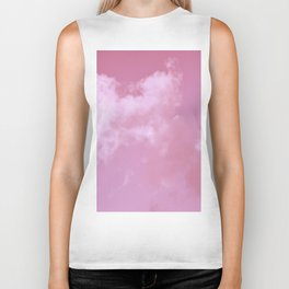 Floating cotton candy with pink Biker Tank
