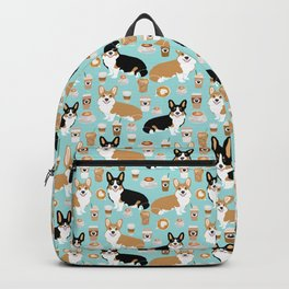 Corgi coffee welsh corgis dog breed pet lovers corgi crew Backpack