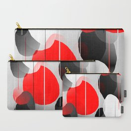 Modern Anxiety Abstract - Red, Black, Gray Carry-All Pouch