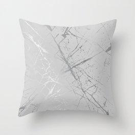 Silver Splatter 089 Throw Pillow