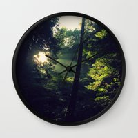 spiritual Wall Clocks featuring Spiritual by LilyMichael Photography