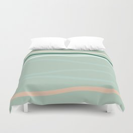 sea is pink Duvet Cover