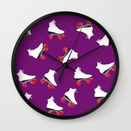 Roller Skaters Wall Clock