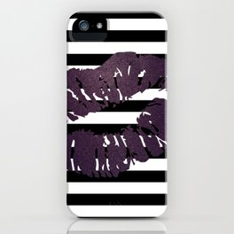 Stripes and Poison Kiss iPhone Case