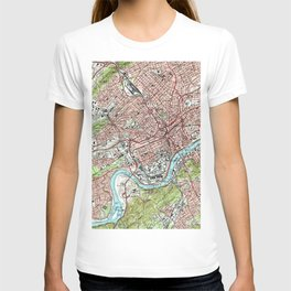 Knoxville Tennessee Map (1978) T-shirt