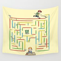 pacman Wall Tapestries featuring School is fun! by Schwebewesen • Romina Lutz
