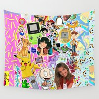 90s Wall Tapestries featuring 90s, childhood. by eriicms