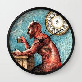 The Demon Drinks Wall Clock