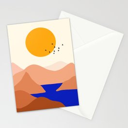 Sunset Over The Mountains Stationery Cards