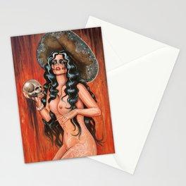 Day of the dead/ muertos pin up senorita Stationery Cards