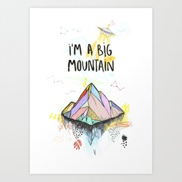 Big Mountain Art Print