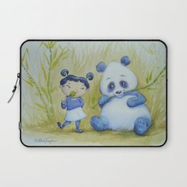 """Panda Pal Pleasantries"" Laptop Sleeve"