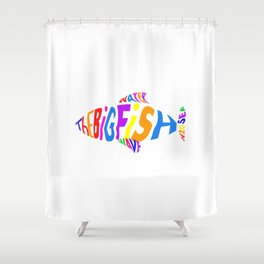 The Big Fish In The Sea Shower Curtain